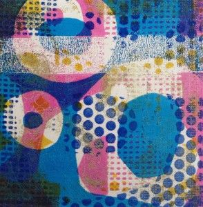 Niki Cotton Art - Gelli Printing - The light that is carried in these prints is just scrummy, the layers and depth, drawing you in, there are really delicate areas with jolts of bright colours punching out at you.