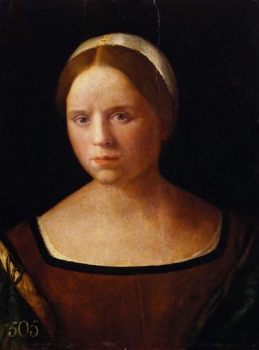 Giovanni Bellini (ca.1430-1516) ~ Portrait of a Woman ~ Giovanni Bellini was an Italian Renaissance painter, probably the best known of the Bellini family of Venetian painters. His father was Jacopo Bellini, his brother was Gentile Bellini, and his brother-in-law was Andrea Mantegna.