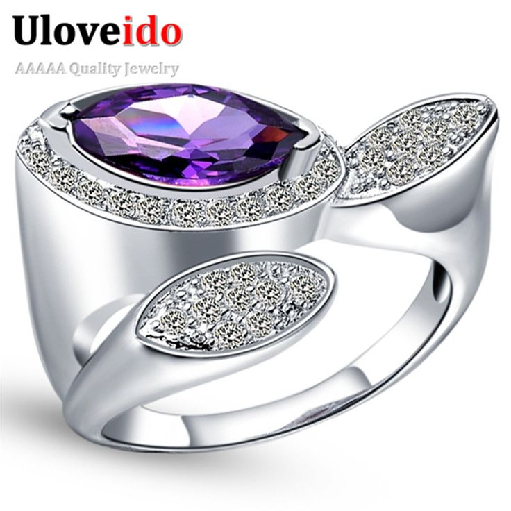 Find More Rings Information about Silver Plated Ring Ladies Fashion Blue Purple Red Simulated Gemstone Jewelry Rings for Women Party Accessories Unique Style J318,High Quality ring pat,China ring Suppliers, Cheap ring device from ULOVE Fashion Jewelry on Aliexpress.com