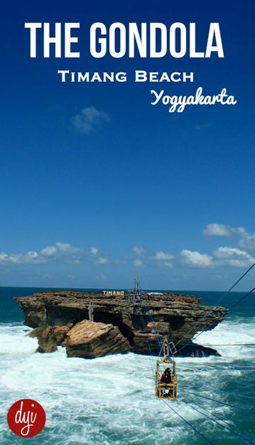 The Gondola at Timang Beach was originally used by fisherman for catching lobsters on this rocky outcrop. It's quickly become a tourist attraction in Yogyakarta.