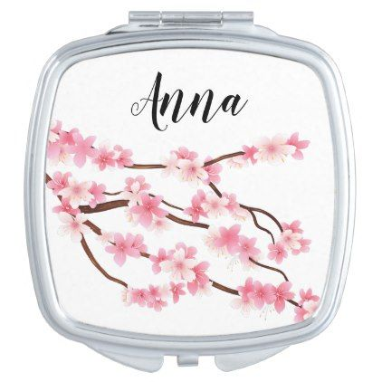 personalized flower name makeup mirror - home gifts ideas decor special unique custom individual customized individualized