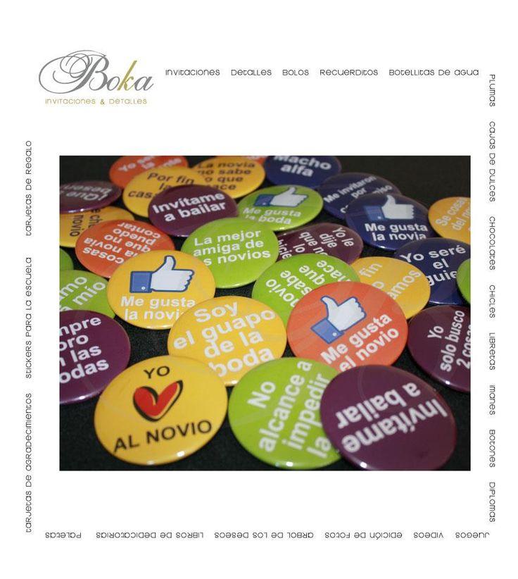Invitacion boda #boda #invitaciones #modernas #originales #diseños invitaciones #botones #chapas #fiesta #wedding #invitations #yoamoalnovio #megustalafiesta #like #party www.bo-kasociales.com