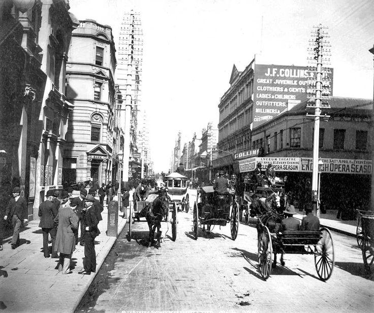 Pitt Street, Sydney, Australia, c. 1892. Fred Hardie.