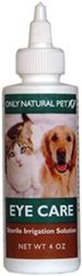 A sterile ophthalmic solution that gently cleanses the eyes and helps relieve irritation and discomfort. FROM onlynaturalpet.com