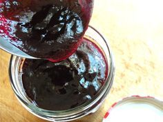 homemade grape freezer jam. No pectin needed. Made this last fall and it is so good.