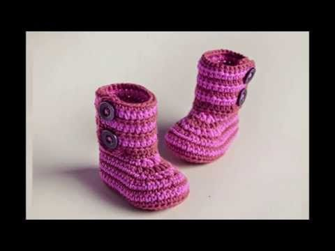 (crochet) How To - Crochet Cowboy Baby Boots - Yarn Scrap Friday - YouTube