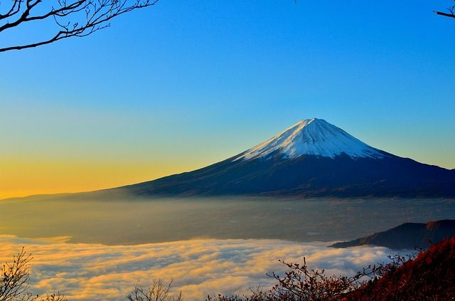 Free stock photo: Mt Fuji, Sea Of Clouds, Sunrise - Free Image on Pixabay - 477832