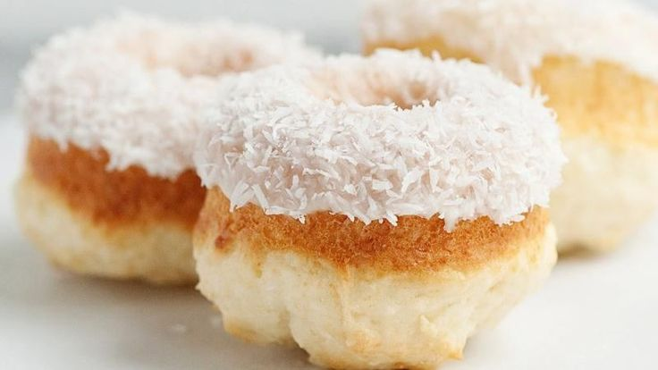 Blogger Bree Hester of  Baked Bree delights coconut lovers with these glazed doughnuts.
