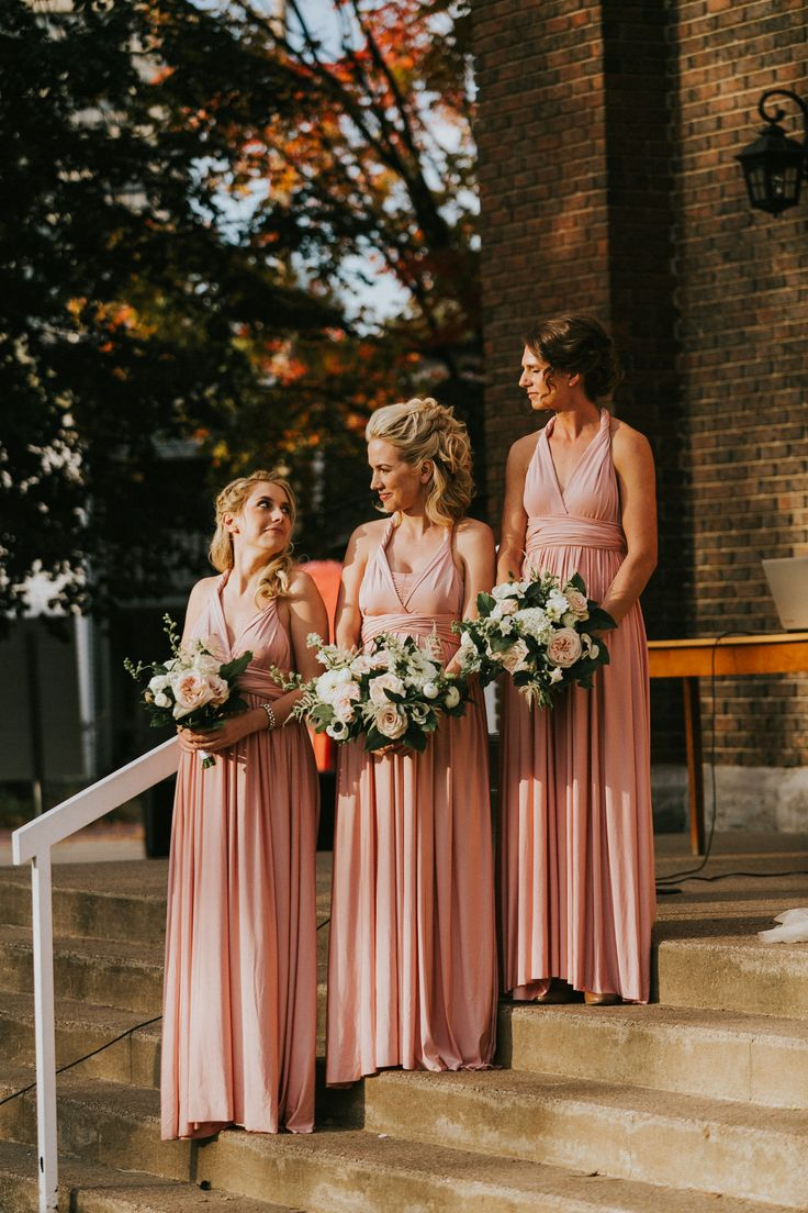 pink henkaa bridesmaids dresses; PHOTOGRAPHY by Joel + Justyna Bedford