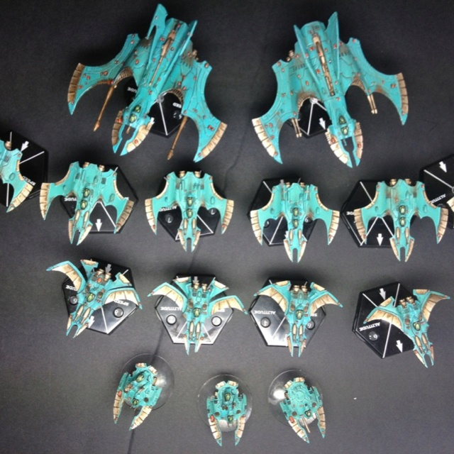 Eldar AI force now ready to crush (or run away from) all opposition!