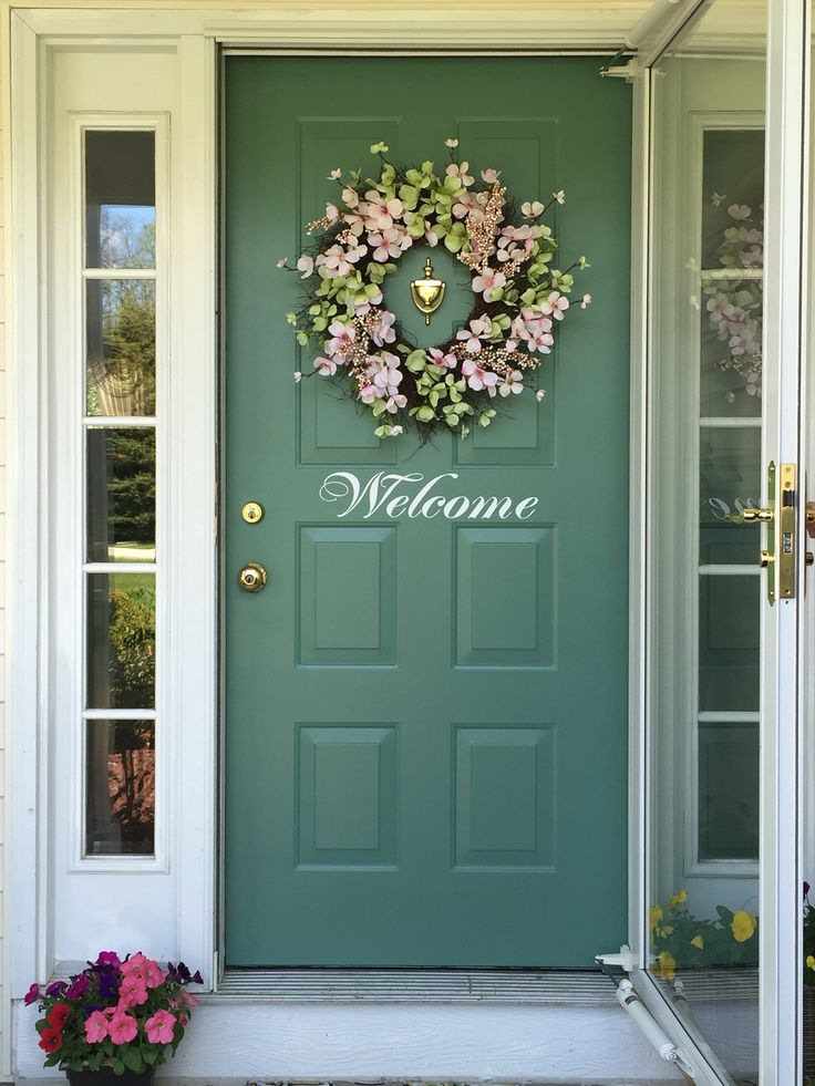 Front Door Decorated Beautiful Front Doors Door Decorations Front Door Colors