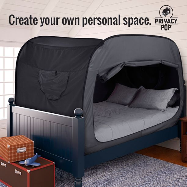Privacy Pop Promotes relaxation and sensory organization.  You can create your own Sensory Space right on your bed, and it's even portable. Available in sizes Twin, Full And Queen with multiple colors options to fit any decor!