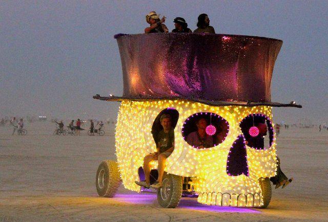 guys riding in style at burning man-Burning Man 2013: In pics