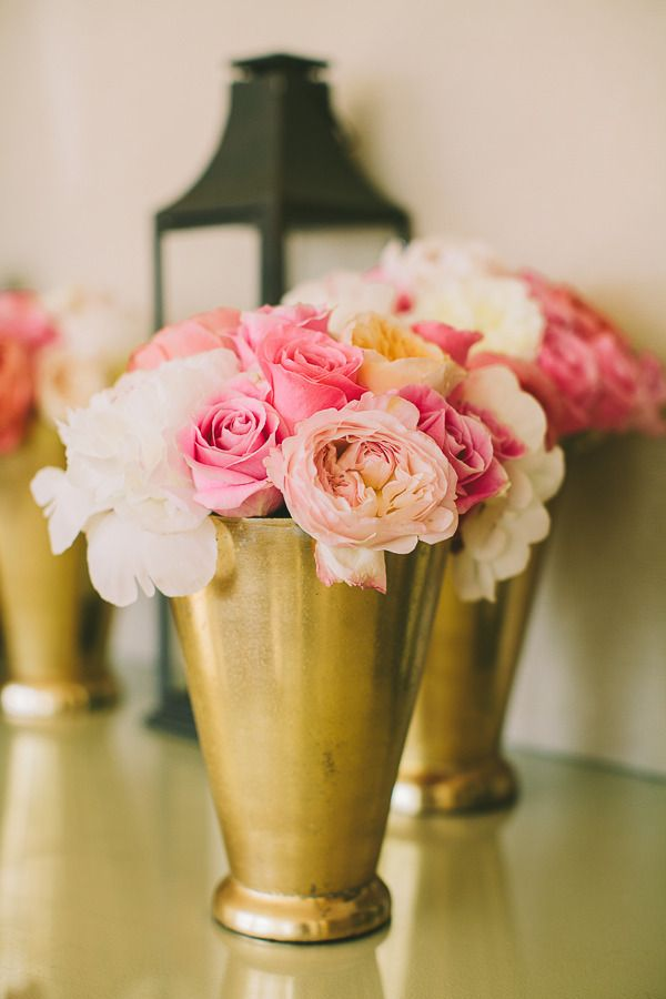 #vases, #rose  Photography: Rebecca Arthurs - rebecca-arthurs.com Planning and Design: Christina Farrow - pacificaisles.com Florist: Martin Roberts Design - martinroberts.com/  Read More: http://www.stylemepretty.com/2013/03/05/kauai-wedding-from-rebecca-arthurs-photography/