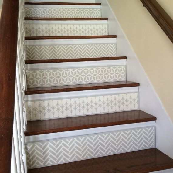 58 Cool Ideas For Decorating Stair Risers: Stair Riser / Alternative To Stair Riser Decals, Stair
