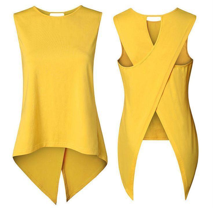Fashion Women Summer Loose Top Sleeveless Blouse Ladies Casual Tops T-Shirt 2017