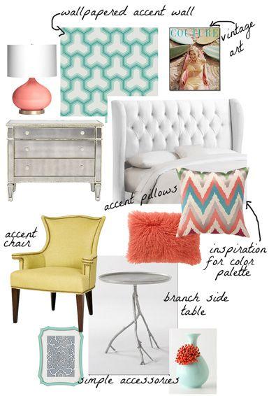 belle maison: Design Concept: Modern Chic Bedroom