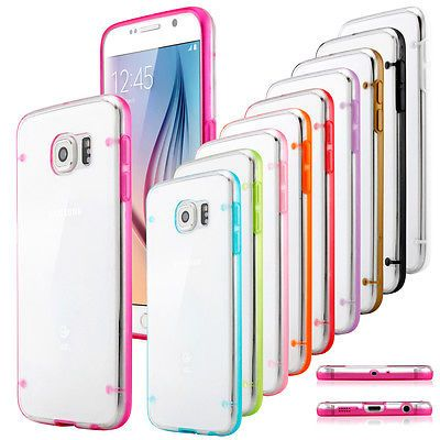 Ultra Slim Shockproof Clear Hard Case Cover for Samsung Galaxy S5 S6 S7 Edge