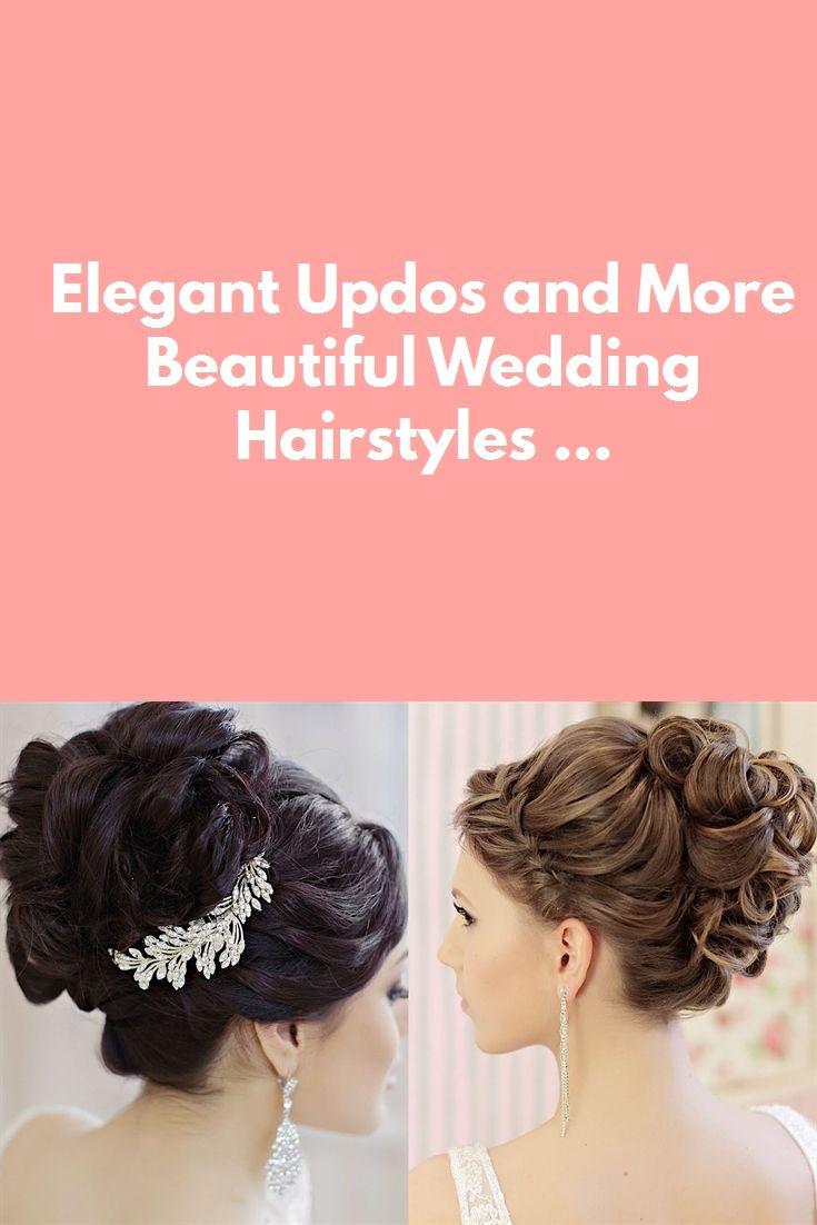 Elegant Updos and More Beautiful Wedding Hairstyles ... #braid hairstyles #eye makeup #makeup #wedding decor #wedding hairstyles