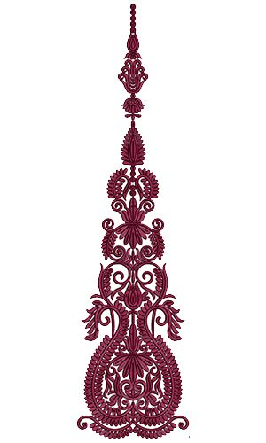 9722 Anarkali Embroidery Design
