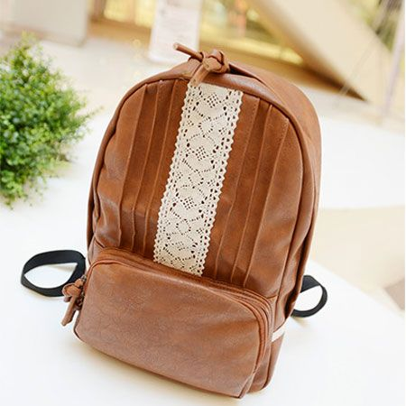 Leisure Lace College PU Backpack