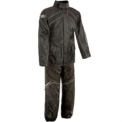 Joe Rocket RS-2 Black Two-Piece Rain Suit - Motorcycles508