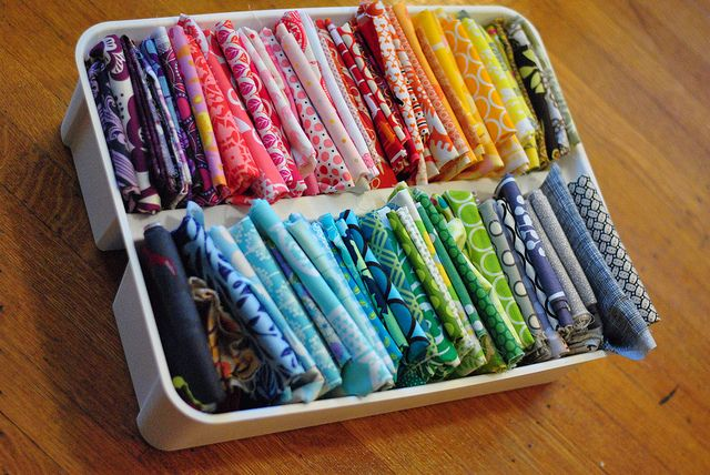 Organizing Fabric Scraps by Lindsay Sews {@CraftBuds}, via Flickr
