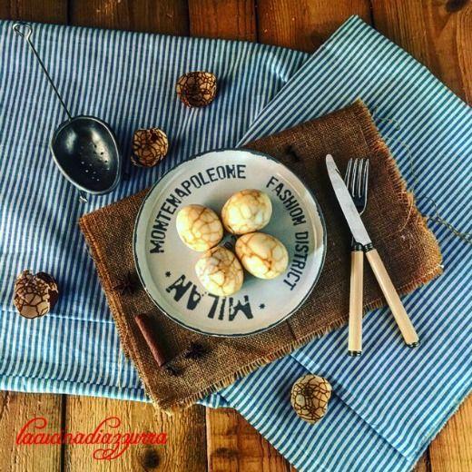 La Cucina di Azzurra: UOVA MARMORIZZATE ALL'ORIENTALE ( Cha Ya Dan )