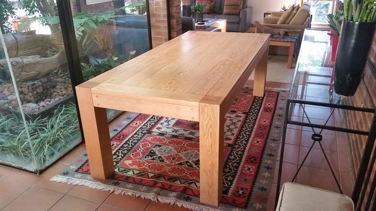 Dining room table from new Oregon Pine for Minette Jacobs
