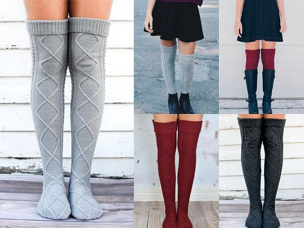 The Cream Diamond Cable Knit Boot Socks are our highest-quality, most popular boot socks. One-size-fits-most with fast & free shipping on every order.