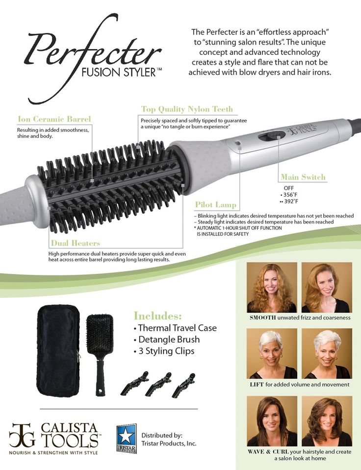 Perfecter Fusion Styler for instant hair shine, volume and body. Its unique concept of fusion ...