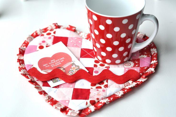 Valentine mug rug by Jodi ~