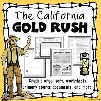 This packet will give you and your students everything they need to research and learn about the California Gold Rush. Use this packet with the Internet, your social studies textbook, or trade books - it can be used with any curriculum! This resource will help your students enhance their research skills and encourage them to take ownership of their learning.