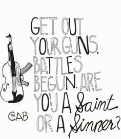 Image result for angel with a shotgun song quotes