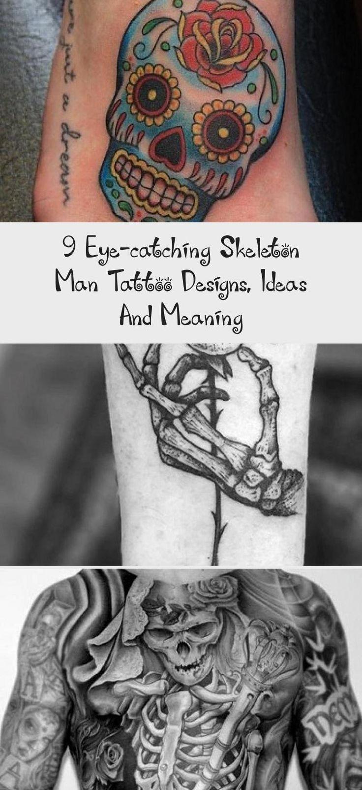 9 EyeCatching Skeleton Man Tattoo Designs, Ideas And
