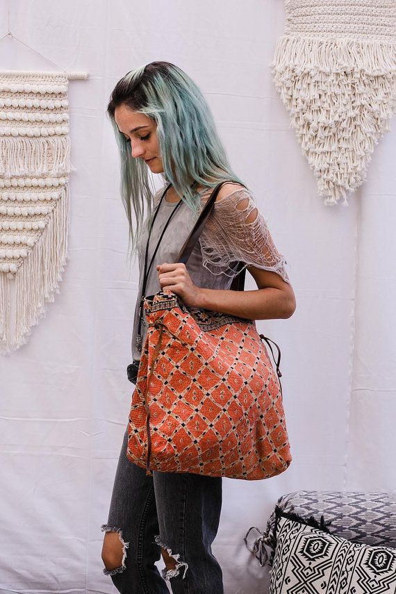 Borsa a tracolla sacchetto della Boemia tessuto Vintage di Hanamer