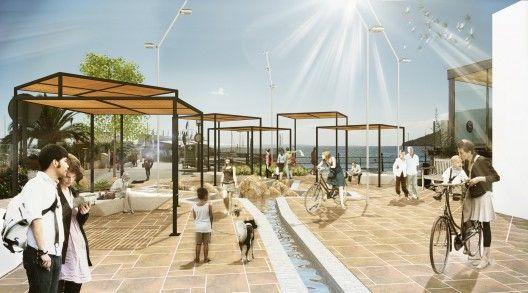 Propuesta para el Concurso Peatonalización de la calle Isidor Macabich en Ibiza, España Cortesía de AAIMM