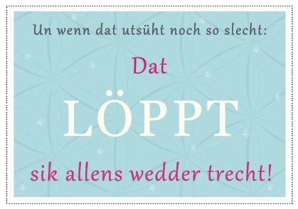 Löppt sik,Plattdeutsch,Postkarte