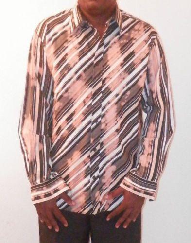 Mens-S-Oliver-Long-Sleeve-Button-Front-Dress-Shirt-Sz-XL