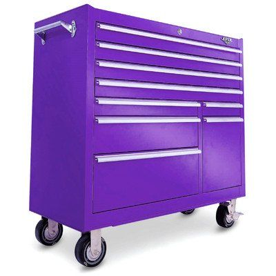 purple tool box | Viper Tool Storage V4109PUr 41-Inch 9 Drawer Rolling Cabinet, Purple ...