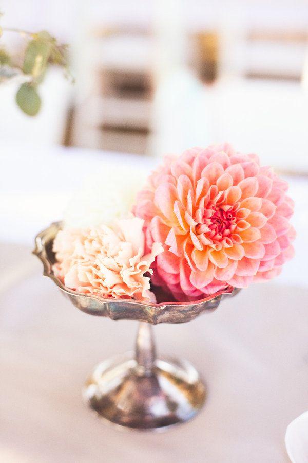 collected antique silver compotes and vasesAntiques Silver, Luxeproductionsnw Com, Floral Design, Bellefleurfloraldesign Com, Fleur Floral, Flower Ideas, Centerpieces, Flower Display, Mimosa Bar