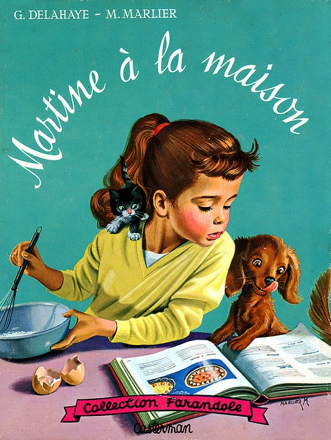 Martine a la Maison by G. Delahaye and M. Marlier - I remember my collection of Martine ;))) that brings back lovely memories ;))