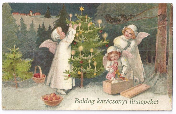 régi magyar karácsonyi képeslapok - Google keresés