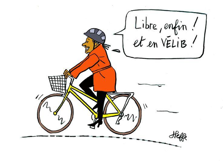 Démission de Christiane Taubira : à Paris en vélib on est libre - http://www.unidivers.fr/demission-christiane-taubira-politique-justice/ - Société, Politique, Economie - Christiane Taubira, démission, françois hollande, garde des sceaux, gouvernement Hollande, Manuel Valls