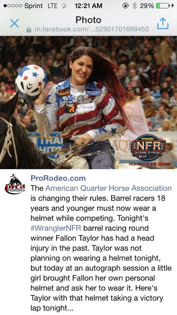 Not only is she an amazing barrel racer, she does amazing things that not most others would do! @FallonTaylor3