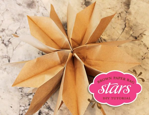 Hanging Paper Bag StarsPaper Stars, Brown Paper Bags, Crafts Ideas, Bags Stars, Brown Bags, Creative Parties Ideas, Hanging Stars, Diy Tutorials, Party Ideas