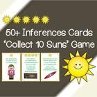 Inferences Card Game - Collect 10 Sun's!  (Suitable for 1st to 3rd Graders)  Includes: Inference Definition Poster 50+ Inference Cards (+ 8 'Moon' ...