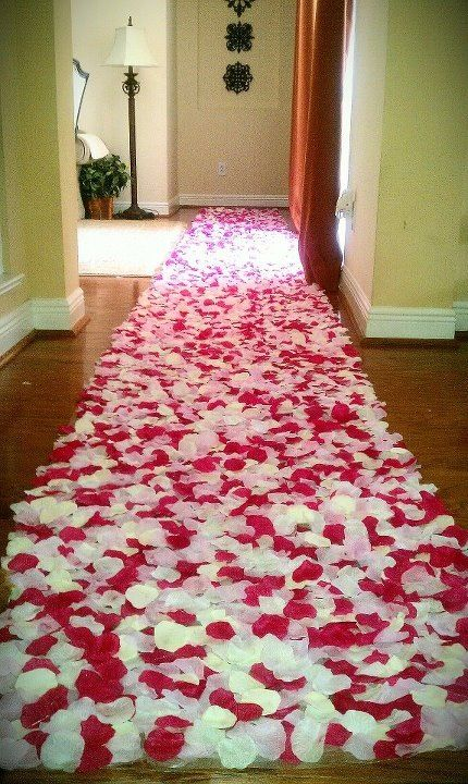 Rose Petal Wedding Procession Runner Carpet Weddingbee