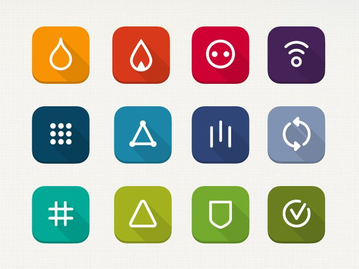 Flat icons for iOS7 by Bart Nederveen