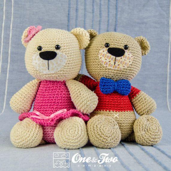 Teddy Sweet Hugs Amigurumi - PDF Crochet Pattern - Instant Download - Doll Crochet Animal Cuddy Stuff Plush